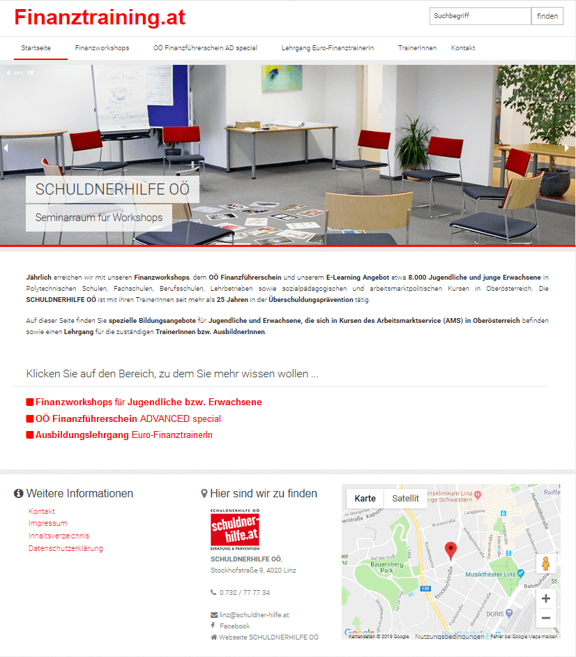 Website Finanztraining